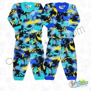 Пижама для мальчика Акулы (тонкая)